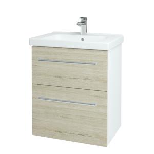 Dřevojas Koupelnová skříň BIG INN SZZ2 65 N01 Bílá lesk / Úchytka T03 / D05 Oregon 132842C