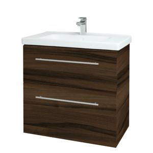 Dřevojas Koupelnová skříň BIG INN SZZ2 80 D06 Ořech / Úchytka T02 / D06 Ořech 133092B