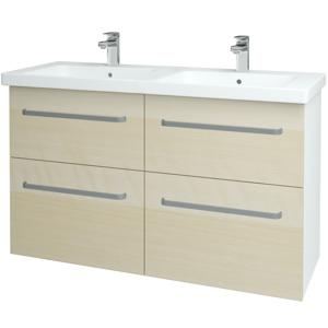 Dřevojas Koupelnová skříň BIG INN SZZ4 125 N01 Bílá lesk / Úchytka T01 / D02 Bříza 27554A