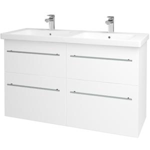 Dřevojas Koupelnová skříň BIG INN SZZ4 125 N01 Bílá lesk / Úchytka T02 / M01 Bílá mat 200947B