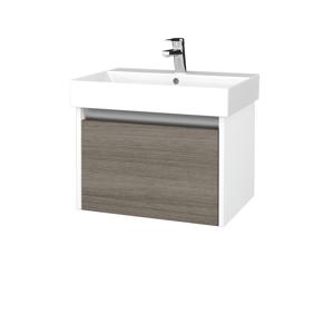 Dřevojas Koupelnová skříň BONO SZZ 60 N01 Bílá lesk / D03 Cafe 277468