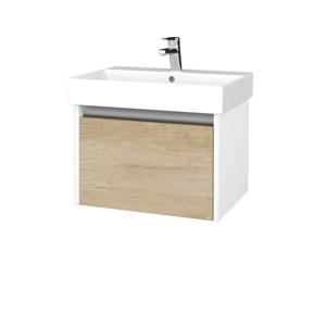 Dřevojas Koupelnová skříň BONO SZZ 60 N01 Bílá lesk / D15 Nebraska 277444