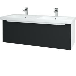Dřevojas Koupelnová skříň COLOR SZZ 125 N01 Bílá lesk / L03 Antracit vysoký lesk 67741