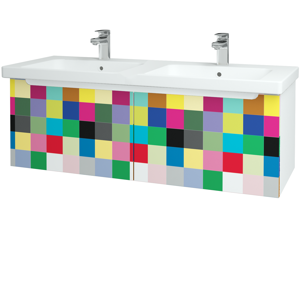 Dřevojas Koupelnová skříň COLOR SZZ2 125 N01 Bílá lesk / IND Individual 23808