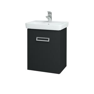 Dřevojas Koupelnová skříň DOOR SZD 50 L03 Antracit vysoký lesk / L03 Antracit vysoký lesk / Pravé 151690P