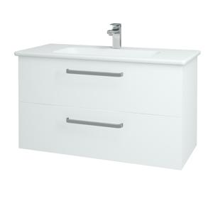 Dřevojas Koupelnová skříň GIO SZZ2 100 N01 Bílá lesk / Úchytka T01 / L01 Bílá vysoký lesk 130770A