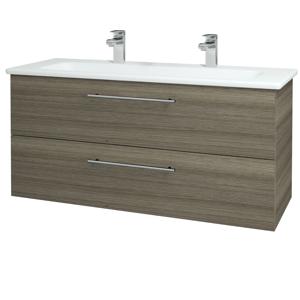 Dřevojas Koupelnová skříň GIO SZZ2 120 D03 Cafe / Úchytka T02 / D03 Cafe 130718BU