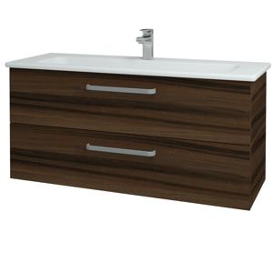 Dřevojas Koupelnová skříň GIO SZZ2 120 D06 Ořech / Úchytka T01 / D06 Ořech 130084A