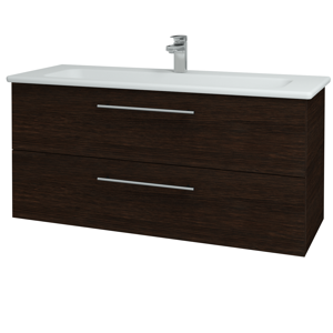 Dřevojas Koupelnová skříň GIO SZZ2 120 D08 Wenge / Úchytka T02 / D08 Wenge 130756B