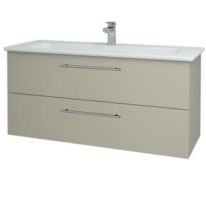Dřevojas Koupelnová skříň GIO SZZ2 120 L04 Béžová vysoký lesk / Úchytka T02 / L04 Béžová vysoký lesk 130152B