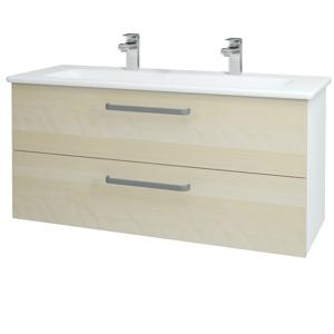 Dřevojas Koupelnová skříň GIO SZZ2 120 N01 Bílá lesk / Úchytka T01 / D02 Bříza 129903AU