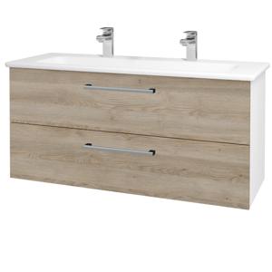 Dřevojas Koupelnová skříň GIO SZZ2 120 N01 Bílá lesk / Úchytka T03 / D17 Colorado 202965CU