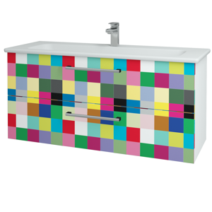 Dřevojas Koupelnová skříň GIO SZZ2 120 N01 Bílá lesk / Úchytka T03 / IND Individual 130022C
