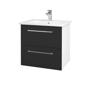 Dřevojas Koupelnová skříň GIO SZZ2 60 N01 Bílá lesk / Úchytka T04 / N03 Graphite 202064E
