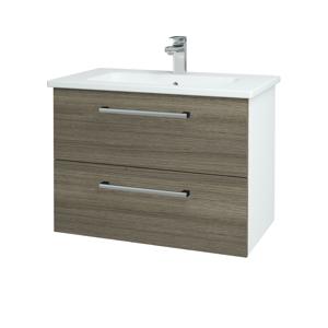 Dřevojas Koupelnová skříň GIO SZZ2 80 N01 Bílá lesk / Úchytka T03 / D03 Cafe 81945C