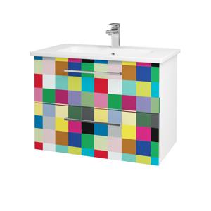 Dřevojas Koupelnová skříň GIO SZZ2 80 N01 Bílá lesk / Úchytka T04 / IND Individual 82027E