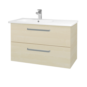Dřevojas Koupelnová skříň GIO SZZ2 90 D02 Bříza / Úchytka T01 / D02 Bříza 202316A