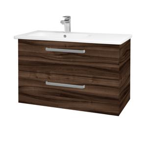 Dřevojas Koupelnová skříň GIO SZZ2 90 D06 Ořech / Úchytka T01 / D06 Ořech 202354A