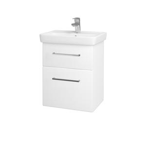 Dřevojas Koupelnová skříň GO SZZ2 50 N01 Bílá lesk / Úchytka T04 / L01 Bílá vysoký lesk 20685E