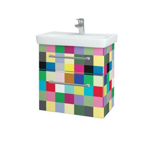 Dřevojas Koupelnová skříň GO SZZ2 60 IND Individual / Úchytka T03 / IND Individual 148645C