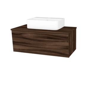 Dřevojas Koupelnová skříň INVENCE SZZ 80 (umyvadlo Joy 3) D06 Ořech / D06 Ořech 180911