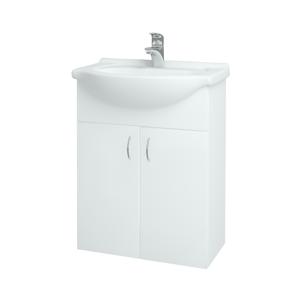 Dřevojas Koupelnová skříň PLUTO SZD2 60 N01 Bílá lesk / N01 Bílá lesk 52334