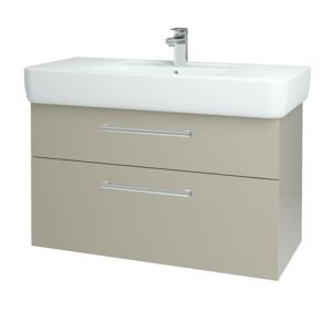 Dřevojas Koupelnová skříň Q MAX SZZ2 100 L04 Béžová vysoký lesk / Úchytka T03 / L04 Béžová vysoký lesk 144982C