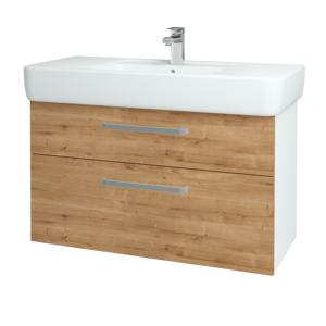 Dřevojas Koupelnová skříň Q MAX SZZ2 100 N01 Bílá lesk / Úchytka T01 / D09 Arlington 144234A