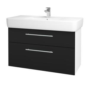Dřevojas Koupelnová skříň Q MAX SZZ2 100 N01 Bílá lesk / Úchytka T02 / N08 Cosmo 198879B