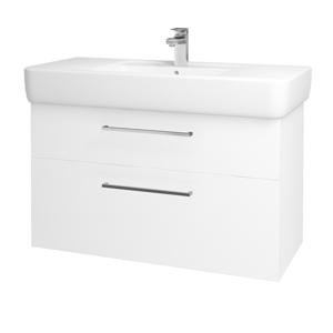 Dřevojas Koupelnová skříň Q MAX SZZ2 100 N01 Bílá lesk / Úchytka T04 / L01 Bílá vysoký lesk 132224E