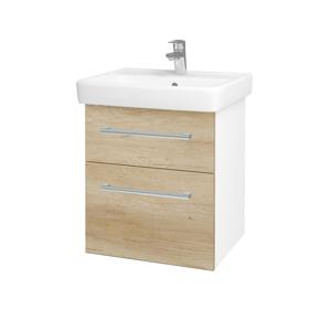 Dřevojas Koupelnová skříň Q MAX SZZ2 55 N01 Bílá lesk / Úchytka T03 / D15 Nebraska 198039C