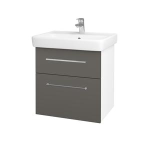 Dřevojas Koupelnová skříň Q MAX SZZ2 60 N01 Bílá lesk / Úchytka T04 / N06 Lava 198237E