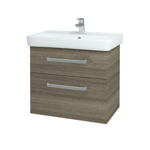 Dřevojas Koupelnová skříň Q MAX SZZ2 70 D03 Cafe / Úchytka T01 / D03 Cafe 68458A