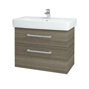 Dřevojas Koupelnová skříň Q MAX SZZ2 80 D03 Cafe / Úchytka T03 / D03 Cafe 115654C
