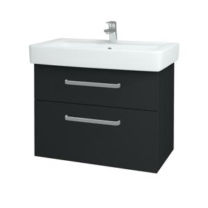 Dřevojas Koupelnová skříň Q MAX SZZ2 80 L03 Antracit vysoký lesk / Úchytka T01 / L03 Antracit vysoký lesk 60391A