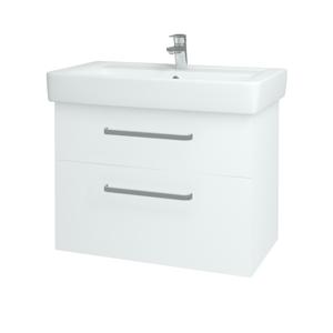 Dřevojas Koupelnová skříň Q MAX SZZ2 80 N01 Bílá lesk / Úchytka T01 / L01 Bílá vysoký lesk 60193A