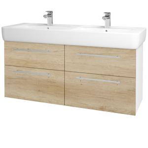 Dřevojas Koupelnová skříň Q MAX SZZ4 130 N01 Bílá lesk / Úchytka T02 / D15 Nebraska 199005B