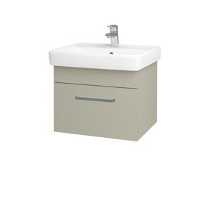 Dřevojas Koupelnová skříň Q UNO SZZ 55 M05 Béžová mat / Úchytka T01 / M05 Béžová mat 208295A