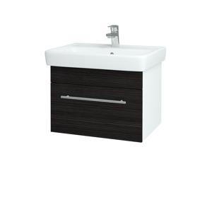 Dřevojas Koupelnová skříň Q UNO SZZ 60 N01 Bílá lesk / Úchytka T02 / D14 Basalt 150556B