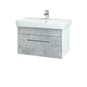 Dřevojas Koupelnová skříň Q UNO SZZ 70 N01 Bílá lesk / Úchytka T01 / M05 Béžová mat 208752A