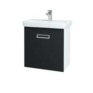 Dřevojas Koupelnová skříň SINGLE SZZ 60 N01 Bílá lesk / L03 Antracit vysoký lesk 151034
