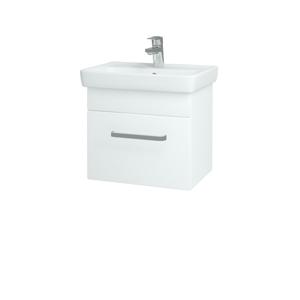 Dřevojas Koupelnová skříň SOLO SZZ 50 N01 Bílá lesk / Úchytka T01 / L01 Bílá vysoký lesk 21811A