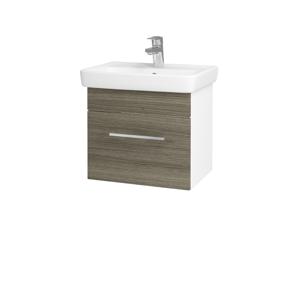 Dřevojas Koupelnová skříň SOLO SZZ 50 N01 Bílá lesk / Úchytka T04 / D03 Cafe 21118E