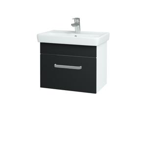 Dřevojas Koupelnová skříň SOLO SZZ 55 N01 Bílá lesk / Úchytka T01 / L03 Antracit vysoký lesk 150204A