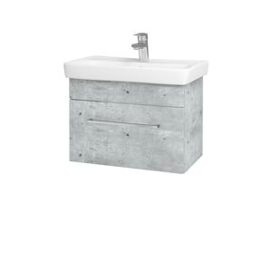 Dřevojas Koupelnová skříň SOLO SZZ 60 D01 Beton / Úchytka T04 / D01 Beton 150310E