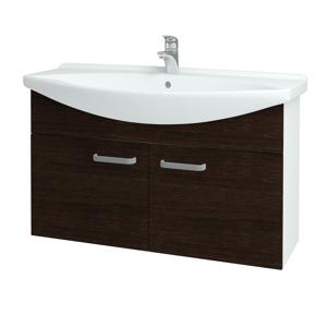 Dřevojas Koupelnová skříň TAKE IT SZD2 105 N01 Bílá lesk / Úchytka T01 / D08 Wenge 152253A