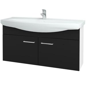 Dřevojas Koupelnová skříň TAKE IT SZD2 120 N01 Bílá lesk / Úchytka T04 / N08 Cosmo 206598E