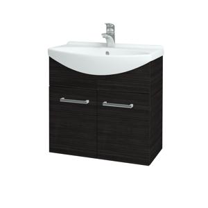 Dřevojas Koupelnová skříň TAKE IT SZD2 65 D14 Basalt / Úchytka T03 / D14 Basalt 151157C