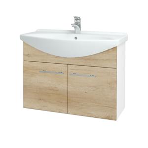 Dřevojas Koupelnová skříň TAKE IT SZD2 85 N01 Bílá lesk / Úchytka T02 / D15 Nebraska 206215B