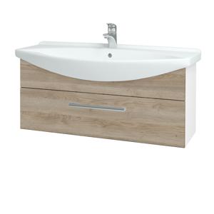 Dřevojas Koupelnová skříň TAKE IT SZZ 105 N01 Bílá lesk / Úchytka T03 / D17 Colorado 207199C